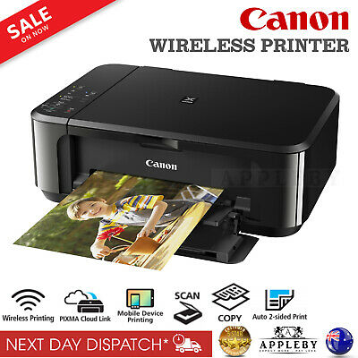 AU109.90 • Buy Canon Wireless Printer Print Scan Copy Multifunction Ink Cartridge Home Student