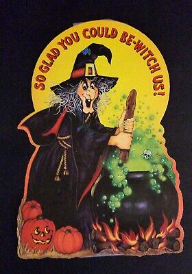 $ CDN23.65 • Buy 1980 Vintage Hallmark Halloween Witch Pumpkins Die Cut -