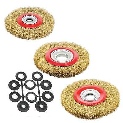 $ CDN11.90 • Buy Wire Brush Wheel 4 5 6 8  For Bench Grinder Polish 10pc Reducers Adaptor Rings
