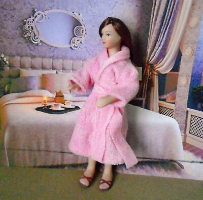 $ CDN12.03 • Buy MODERN WOMAN  In Dressing Gown Dolls House Porcelain Doll 12th Scale NEW