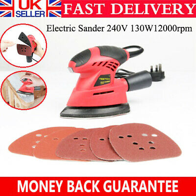 Electric Detail Mouse Palm Handheld Sander 130W Sanding Machine Power Tool • 14.90£
