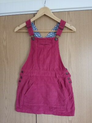 Fat Face Red Corduroy Mini Dungaree Pinafore Dress Age 10-11 • 1.99£
