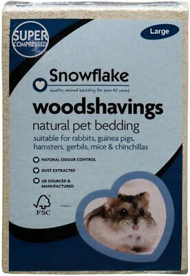 Snowflake Woodshavings, High Quality Softwood Sawdust Sourced Large • 13.99£