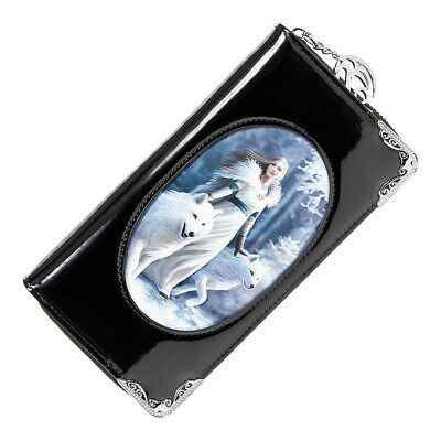 £19.39 • Buy Anne Stokes Winter Guardian Wolf Fantasy Gothic Black 3D Lenticular Purse