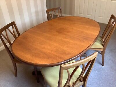 G Plan Fresco Oval Extendable Dining Table And 4 Chairs • 35£