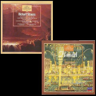 Marshall Cavendish Great Composers.  2 LPs.  Handel (29) & Ricard Strauss (44) • 8£