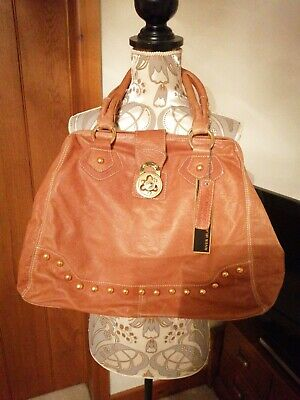 Women's River Island Real Leather Tan Bag NWT • 20£