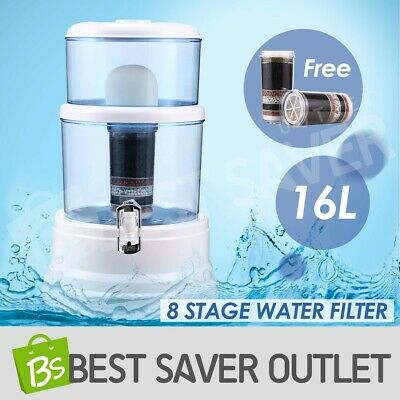 AU64.79 • Buy 8 Stage 16L Water Filter Purifier Bench Top Mineral Dispenser Top Ceramic Carbon