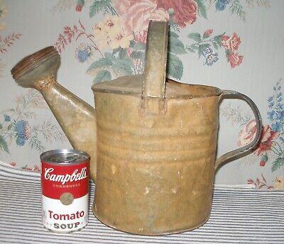 $ CDN191.61 • Buy BEST Early 1900's Pumpkin-Painted Galvanized Tin WATERING CAN Small Size Antique