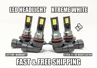 $29.99 • Buy Factory Fit LED Headlight Bulb For Lexus LS430 High & Low Beam 2001-2006 X4