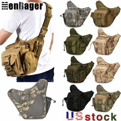 $22.99 • Buy Outdoor Military Tactical Shoulder Bag Molle Hiking Sling Chest Pack Crossbody