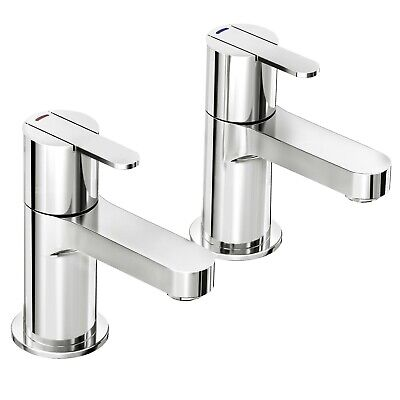 £64.99 • Buy Francis Pegler - Strata Basin Pillar Taps In Chrome With Click Waste
