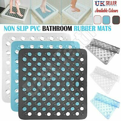 Rubber Shower Mat Large Square Non Slip With Suction Anti Mould Slip Bath Mat UK • 4.19£