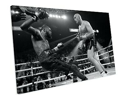 Tyson Fury Sport Boxing CANVAS WALL ART Framed Picture Print • 24.99£