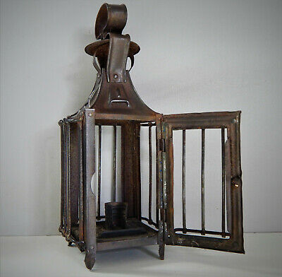 $ CDN117.61 • Buy Rare Antique French Sheet Metal Lantern,Forged,Made 19th Century,Candle,Castle