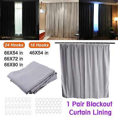 £14.99 • Buy Ready Made Thermal Blackout Curtains Lining For EYELET RING TOP CURTAIN Free P&P