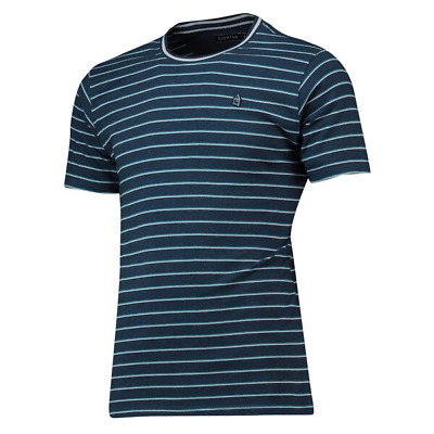 Everton Mens Football T-Shirt Terrace Stripe T-Shirt - Navy - New • 11.99£