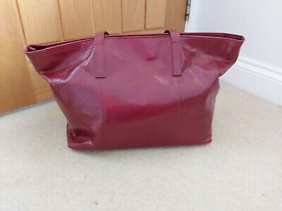Hobbs Gable Leather Tote Bag Burgundy • 50£