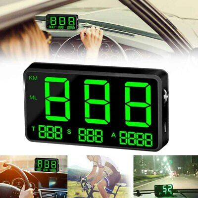 Gps Digital Speedometer Km H Mph Overspeed Warning C80 For Motorcycle Car Taxi • 17.68£