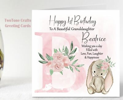 £3 • Buy Personalised Birthday Card 1st 2nd 3rd Granddaughter Sister Niece, Any Age