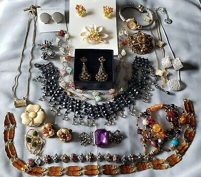$ CDN13.35 • Buy Vintage Estate Junk Drawer Jewelry Lot Watch Signed Trifari Japan Napier Aigner+