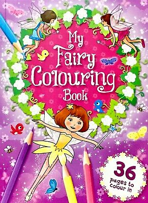 Fairy Colouring Book 36 Pages To Colour In, Children's Fun, New • 3.30£