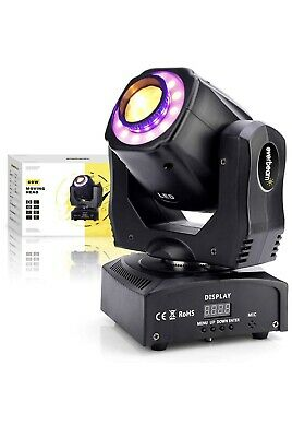 Everbeam 60W LED Moving Head Light. Sound Activated DJ Lights And DMX Light. 7x • 80£