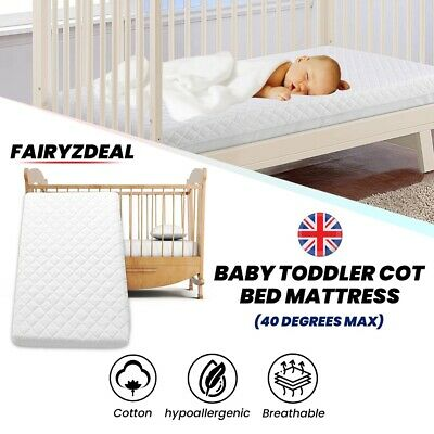 £38.99 • Buy Baby Toddler Cot Bed Mattress Quilted Breathable With Removable Cover ALL SIZES