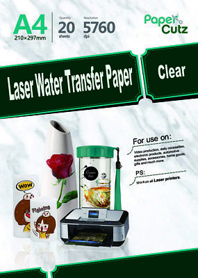 Water Slide Decal Paper A4 LASER Waterslide Transfer Paper • 7.99£