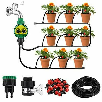 Irrigation System With Timer, 25m DIY Micro Drip Irrigation Kit • 27.99£