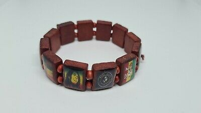 £4.99 • Buy Brown Bob Marley  One Love  Wooden Stretch Bracelet - Up To 20cm Length