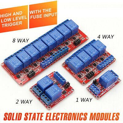 AU11.78 • Buy 5V Or 12V 1-2-4-8 Channel Relay High Low Level Optocoupler Module For Arduino PI