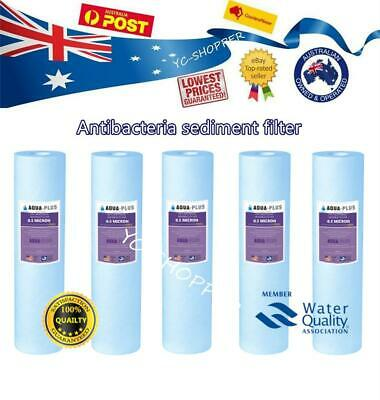 AU29.95 • Buy 5 X Anti Bacterial Replacement Sediment Water Filter Cartridges - 0.5 Micron