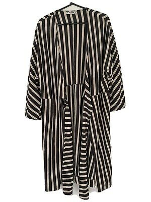 AU38 • Buy Pull And Bear Long Comfy Striped Jacket/cardigan M
