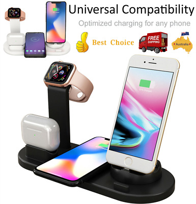 AU23.64 • Buy 3 In 1 Apple Qi Wireless Charger Charging Dock Stand Station For IPhone Watch AU