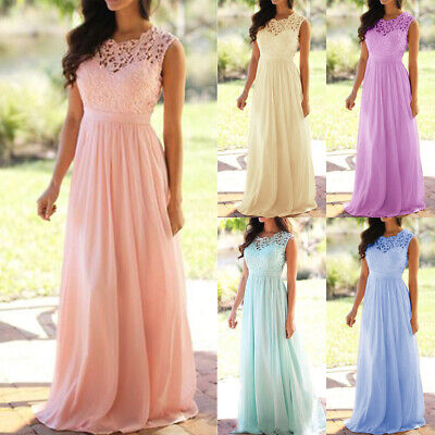 AU31.06 • Buy Plus Size Womens Lace Formal Maxi Dress Evening Party Wedding Bridesmaid Dresses