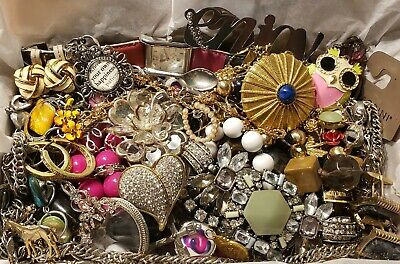 $ CDN14.02 • Buy Vtg Mod Jewelry Lot Rhinestone + Signed Coach Watch Talbots Lia Sophia NY