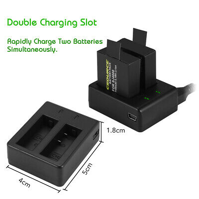 AU30.03 • Buy 2x 1.1Ah 3.7V Li-ion Battery LED Dual Charger USB Cable For SJ4000 Camera XC501