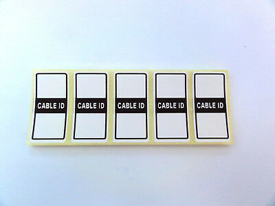 50x Cable Id Tidy Labels Self Adhesive Sticky Identification Stickers Tags White • 2.49£