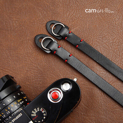 Black Leather Camera Strap With Ring Connection By Cam-in • 26.99£
