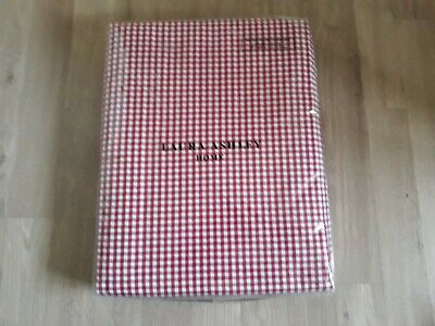Laura Ashley Ready Made Curtains Red Tie Top Gingham. • 10.30£