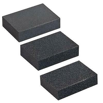 FOAM SANDING BLOCK Wet/Dry Bodywork Extra Fine-Coarse MetalSandpaper Sponge Wood • 3£