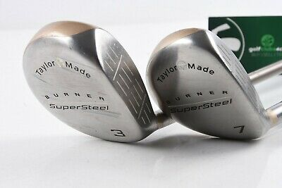 Ladies Taylormade Burner Wood Set / 3 & 7 Wood / Ladies Flex Bubble / Tafbur791 • 34.95£