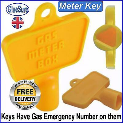 Yellow Service Utility Meter Key Gas Electric Box Cupboard Cabinet Triangle DIY • 2.49£