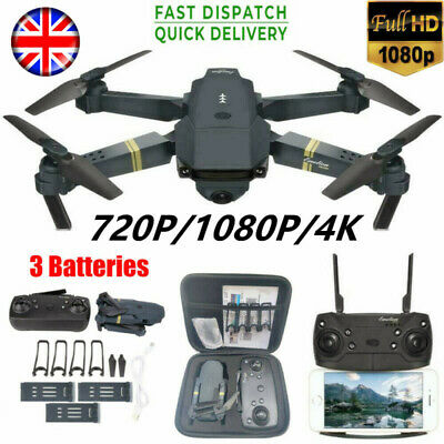 Eachine E58 2.4G RC Drone FPV Wifi 720/1080P HD Camera Quadcopter+3 Batteries • 29.16£