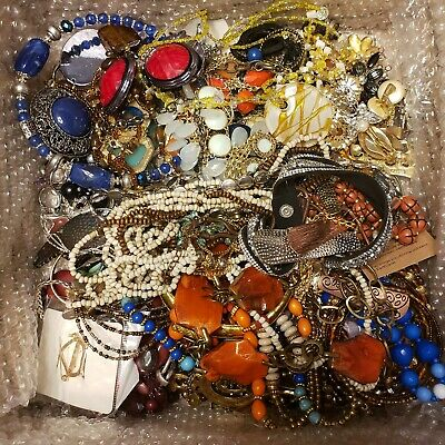 $ CDN40.08 • Buy Jewelry Resell Wearable Bulk Lot Vintage Modern Signed Unsigned 19 Pounds Box B