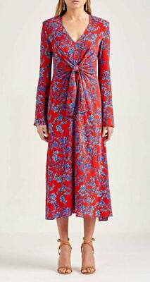 AU150 • Buy Scanlan Theodore Printed Tie Front Dress - Ladies Size 10 - New With Tags!