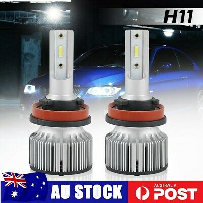 AU27.16 • Buy Bevinsee H11 H8 H9 LED Headlight Globes 6000LM High Low Beam 6000K 60W Fog Light