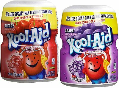 Kool Aid Powdered Drink Mix - Grape & Cherry, 538g, Twin Pack • 19.99£
