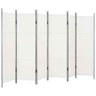 AU77.95 • Buy Freestanding Room Divider 6 Panel Privacy Screen Partition Decor Steel Frame